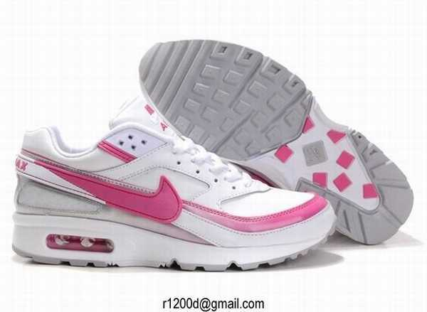 air max grise et rose femme