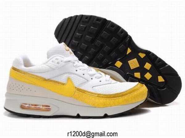 Vente Vente Nike Air Max 87 Homme Cuir Or Blanc Chaussure