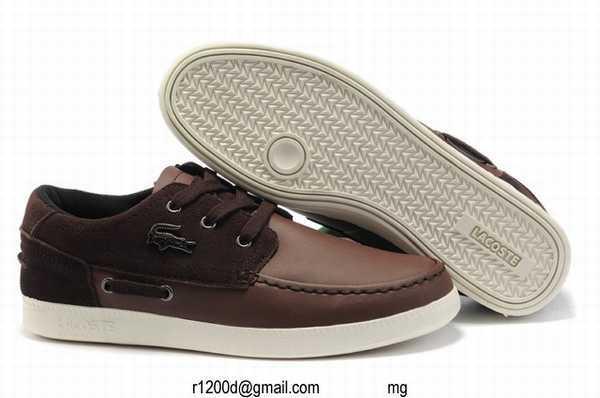 Chaussure Lacoste Marron