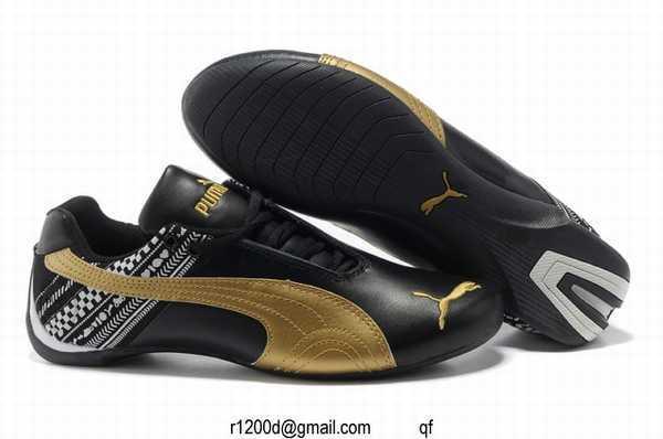 chaussure puma cuire noir