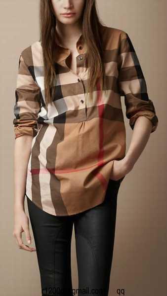 93e16560cc5 chemise a carreaux burberry femme pas cher