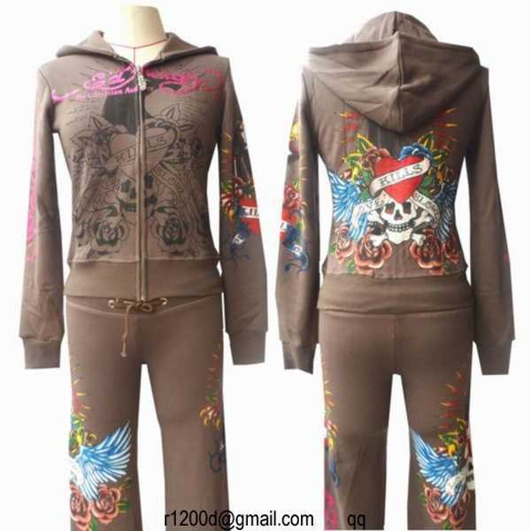 jogging ed hardy femme discount ensemble jogging femme fashion jogging pas cher de marque. Black Bedroom Furniture Sets. Home Design Ideas