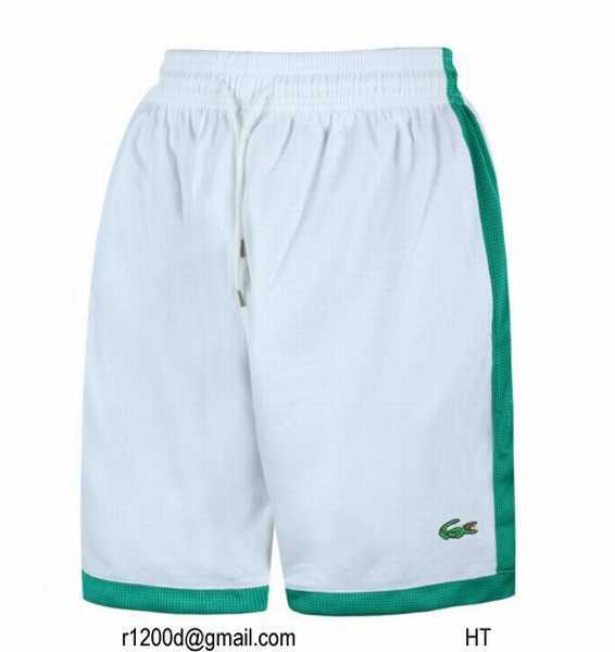 Short de bain lacoste discount vente short lacoste homme for Short a carreaux homme