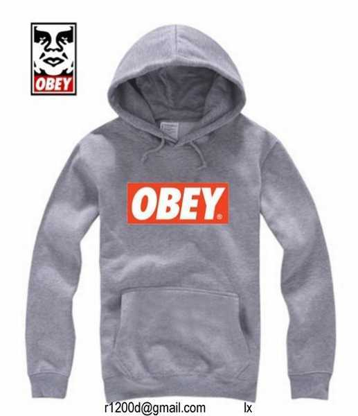 sweat a capuche obey pas cher acheter sweat obey pas cher sweat obey capuche zippe homme france. Black Bedroom Furniture Sets. Home Design Ideas