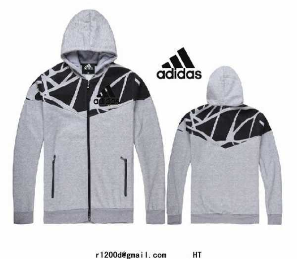 sweat Adidas Capuche Sweat Blanc Imitation sweat Shirt Zippe htrQsd