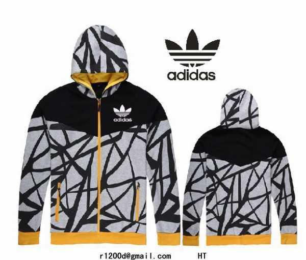 Veste Zippé Gris Homme Adidas – Soldes et achat pas cher