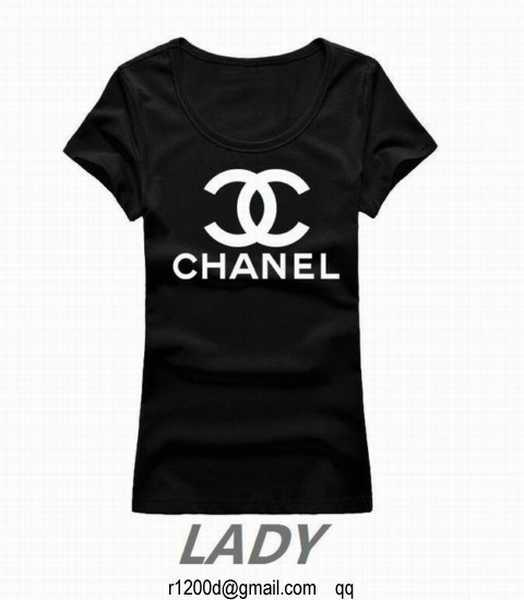 t shirt chanel femme en solde t shirt femme fashion t. Black Bedroom Furniture Sets. Home Design Ideas