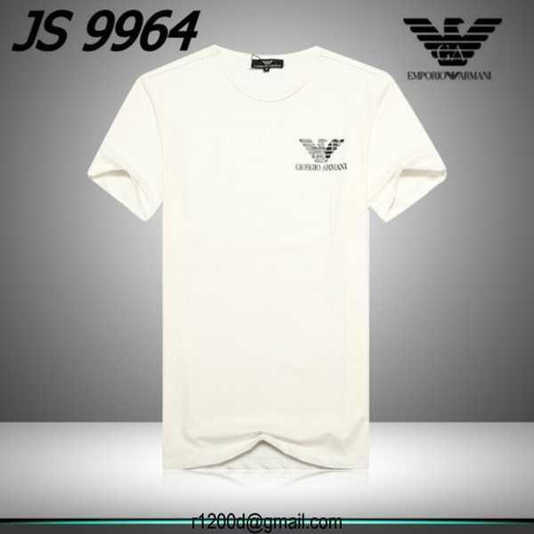 6cf6f57a4c836 t shirt manche longue armani en v