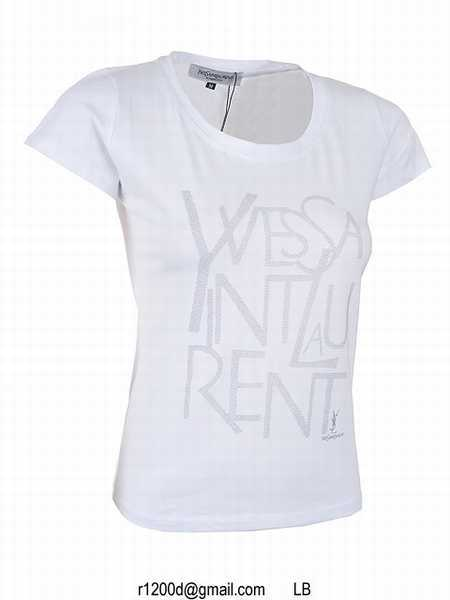 Tee shirt yves saint laurent femme for Saint laurent paris t shirt