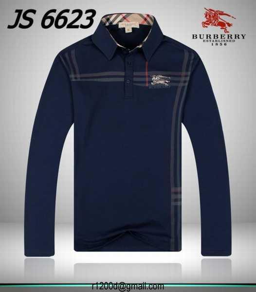 456f304c1102f Polo Burberry Homme Manche Longue