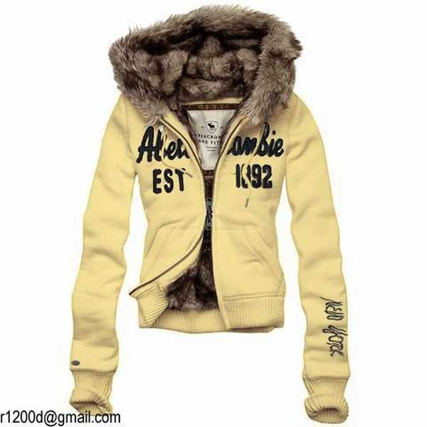 veste abercrombie and fitch femme fourrure,